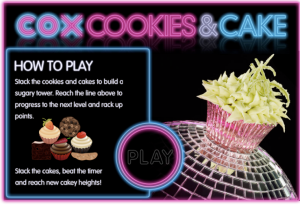 Cox Cookies & Cake - the game.